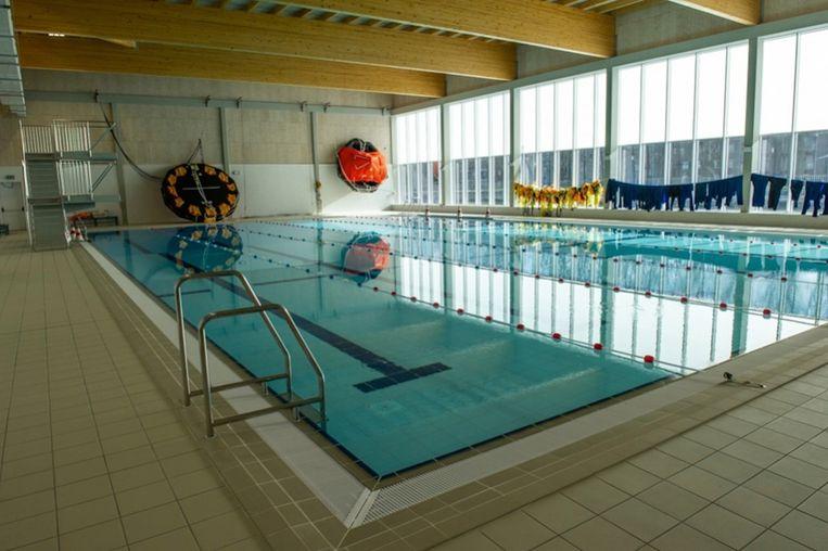 Het zwembad van de marinebasis in Zeebrugge.