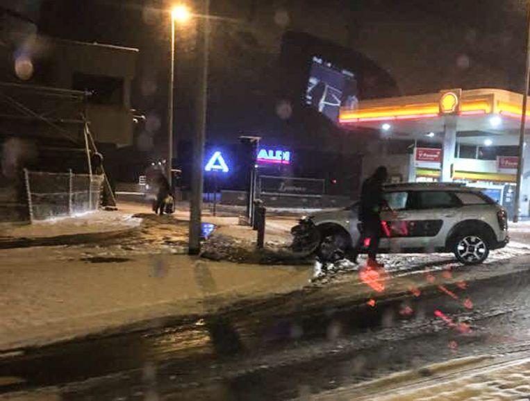 Sneeuw - ongeval Buke Zottegem