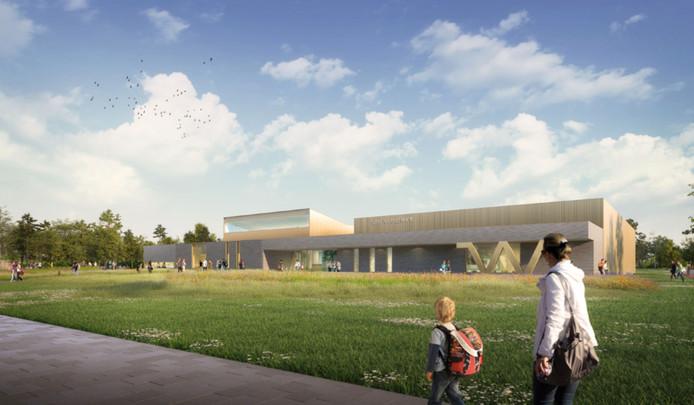 Sfeerimpressies van de nieuwe buitenkant van het multifunctionele sportcomplex De Wedert in Valkenswaard.
