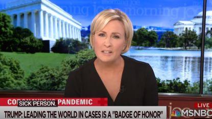 """Tv-presentatrice haalt live uit: """"Donald, je bent  ziek  en walgelijk"""""""