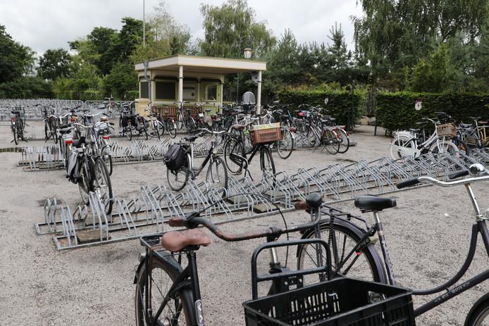 De fietsenstalling bij de Efteling