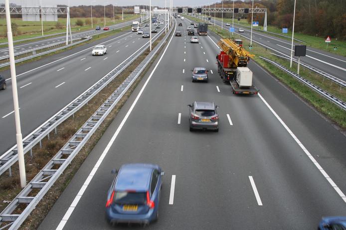 A28 vanaf de loopbrug Bunnikseweg in 2018.