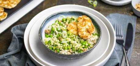 Wat Eten We Vandaag: Groene parelcouscous met halloumi