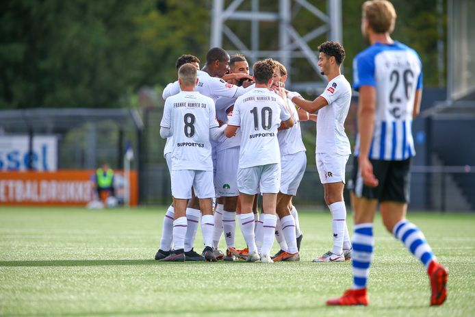 05-09-2020: Voetbal: FC Eindhoven v Telstar: Eindhoven Keukenkampioen division L-R the team of Telstar celebrate their third goal