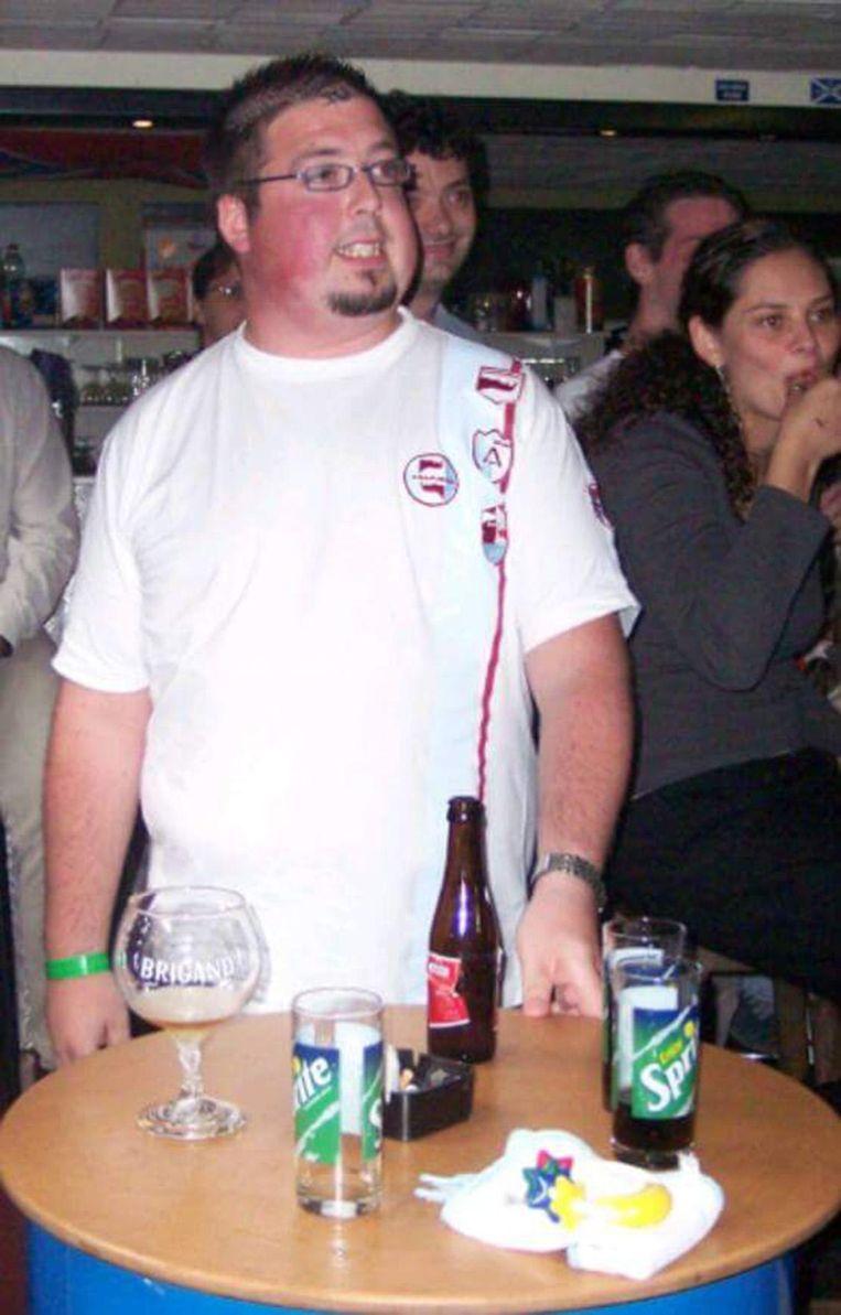 Davy toen hij 140 kilogram woog.