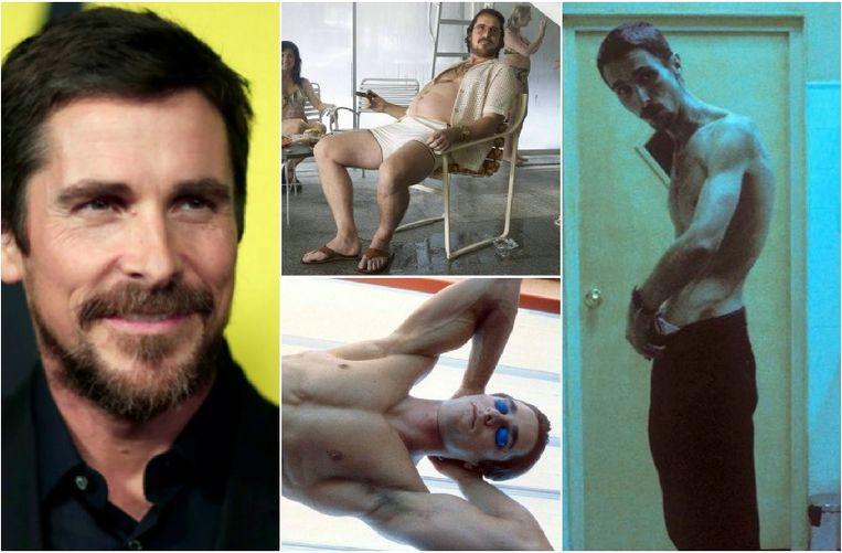 Christian Bale onderging al vele extreme transformaties voor filmrollen.