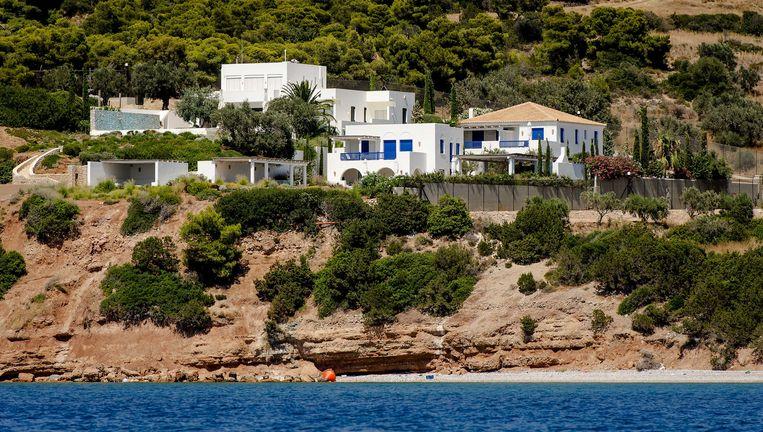 De vakantievilla van de koning in het Griekse Kranidi. Beeld anp