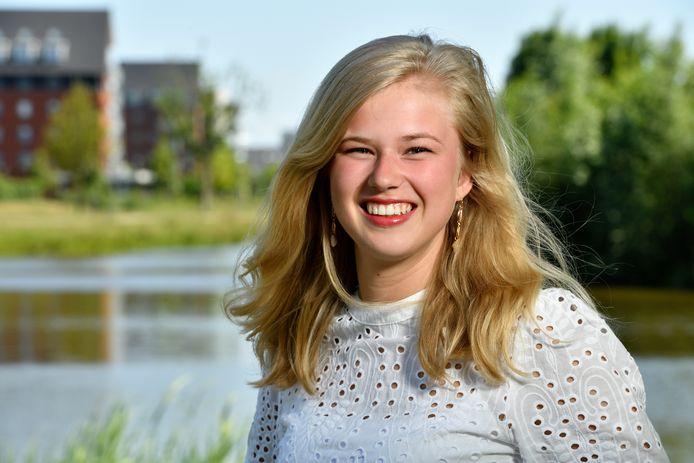 Een van de studiekiezers die op het allerlaatste moment een keuze heeft moeten maken, Carlijn van den Bor uit Nijkerk.