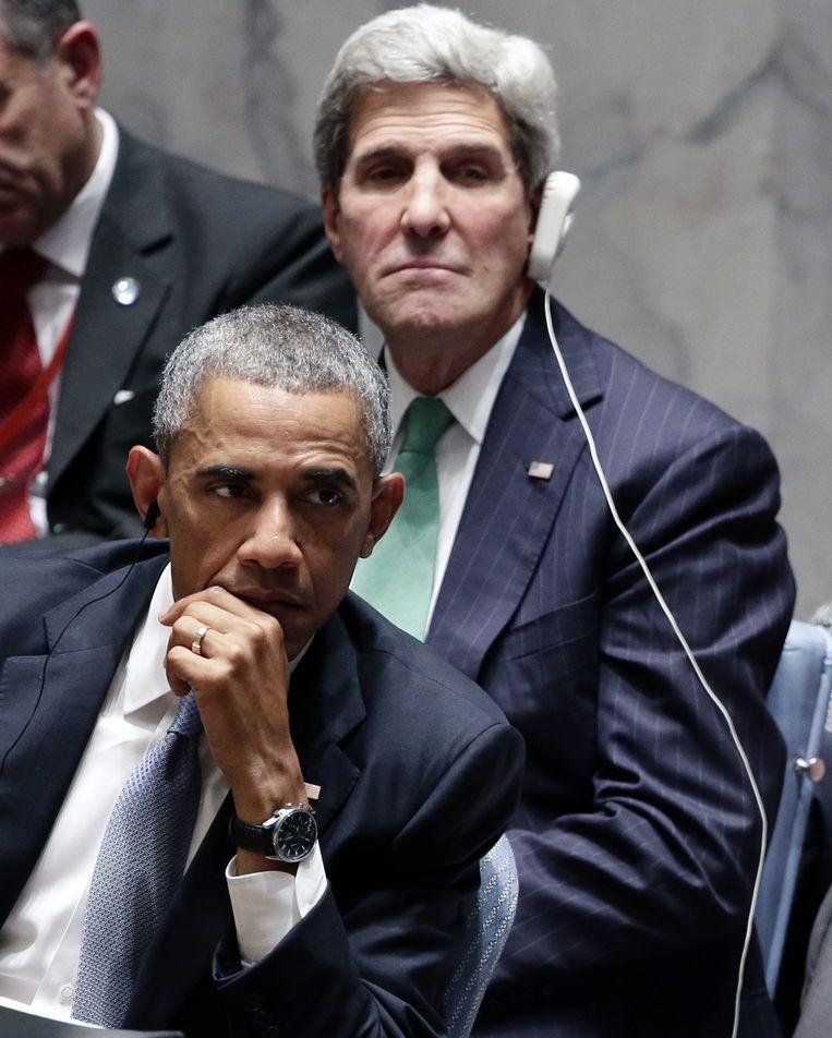 Obama en Kerry tijdens de VN-Veiligheidsraad. Beeld null