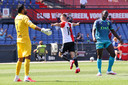 Bozenik van Feyenoord na een doelpunt.