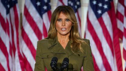 """Melania probeert campagne Trump menselijk gezicht te geven: """"Jullie staan niet alleen"""""""