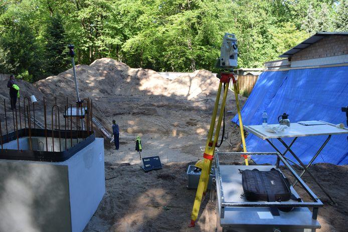 De opgraving aan de Bosweg.