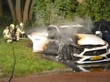 Geparkeerde auto Belvédèrebos gaat in vlammen op