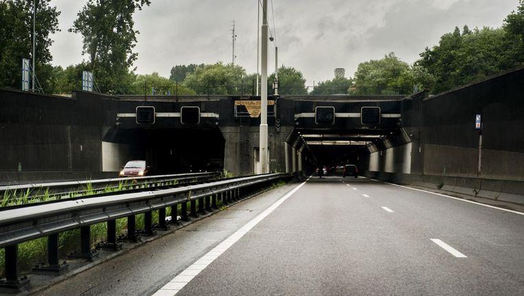 De ingang van de Velsertunnel. Beeld ANP