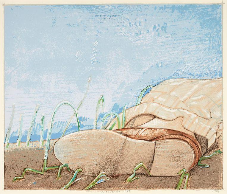 Liggen in het gras (1980) Beeld Co Westerik