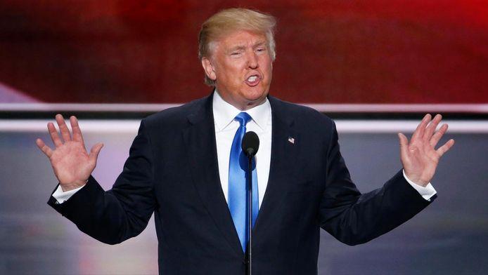 Donald Trump in Cleveland.
