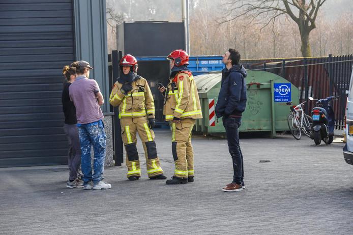 De brand ontstond in de afzuiginstallatie.