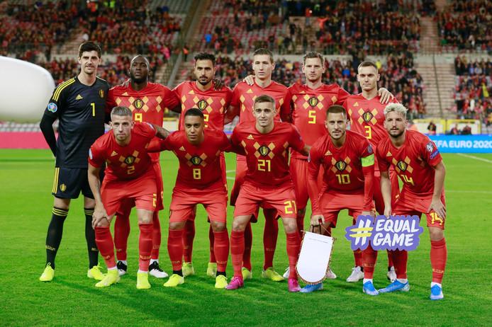 De teamfoto van België.