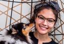Melissa met Bhodi, augustus 2019.