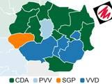 CDA en VVD kleuren Twente, PvdA volledig van de kaart geveegd