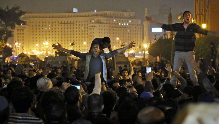 Protesten in Caïro Beeld EPA
