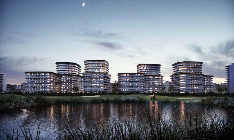 Vooral de Sky Towers van 100 en 85 meter hoog of 29 en 26 bouwlagen zullen in het oog springen.