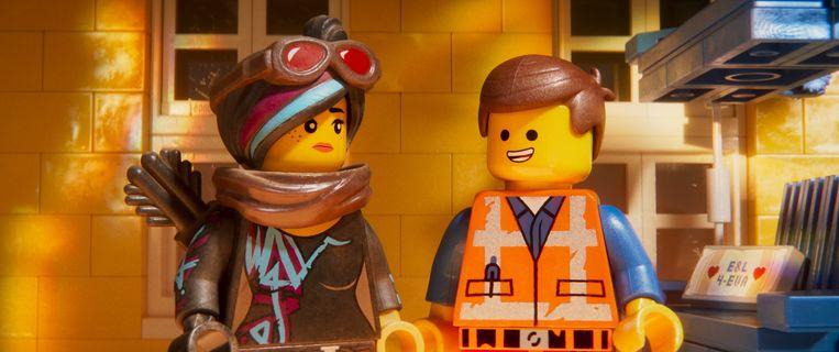 Lucy en Emmet in 'The Lego Movie 2'. Beeld