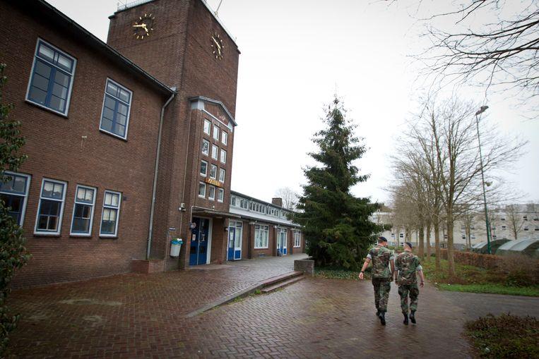 De marinierskazerne in Doorn verhuist naar Vlissingen. Doorn wilde de kazerne renoveren, maar minister Hans Hillen van Defensie kiest voor nieuwbouw in Zeeland. Beeld ANP