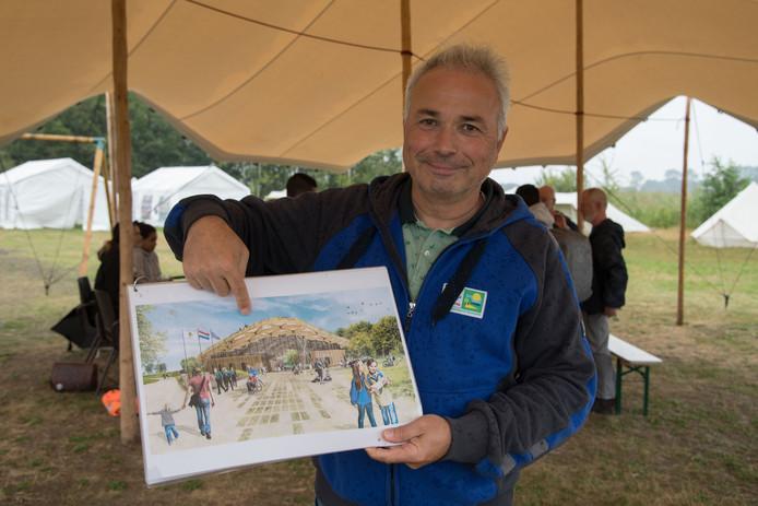 Peter Messerschmidt is in zijn nopjes nu de plannen voor het Avonturenhuis op Scoutinglandgoed Zeewolde in de vergunningsfase zijn beland.