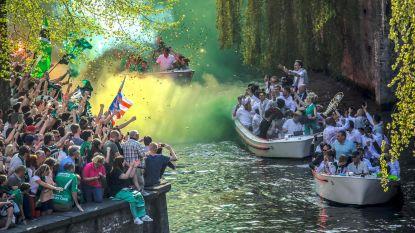 Brugge kleurt groenzwart