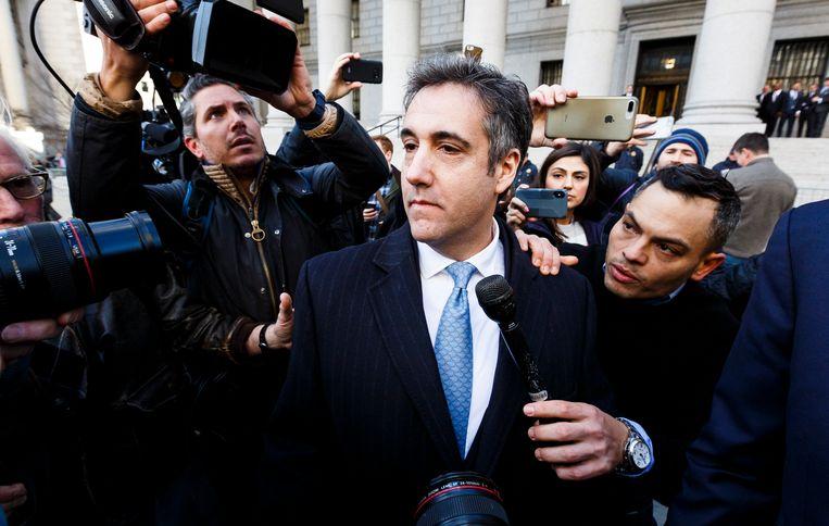 Michael Cohen, de voormalige persoonlijke advocaat van Trump. Beeld EPA