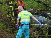 Auto vliegt uit de bocht en belandt in sloot bij Strijbeek