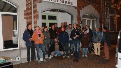 'Guerrilla-café' voor deur Gildenhuis