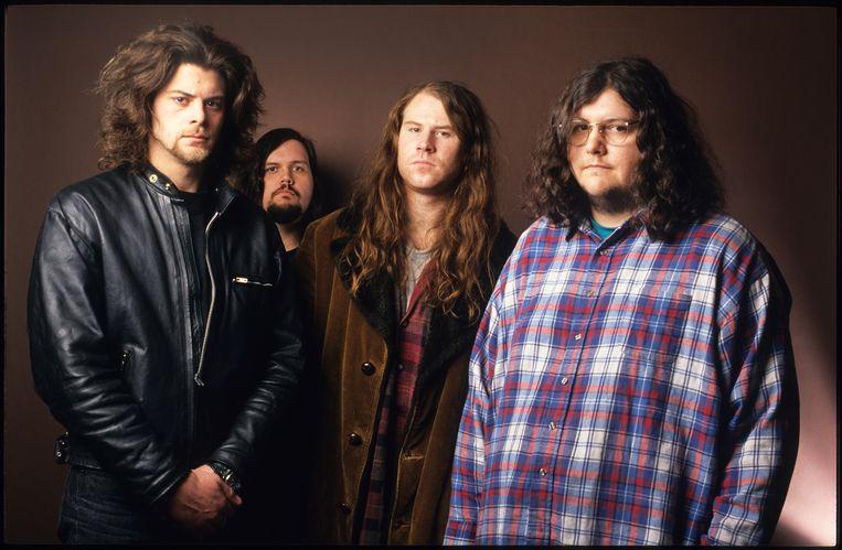 Screaming Trees met  Mark Lanegan, Gary Lee Conner, Van Conner, Barrett Martin, Beeld Getty Images