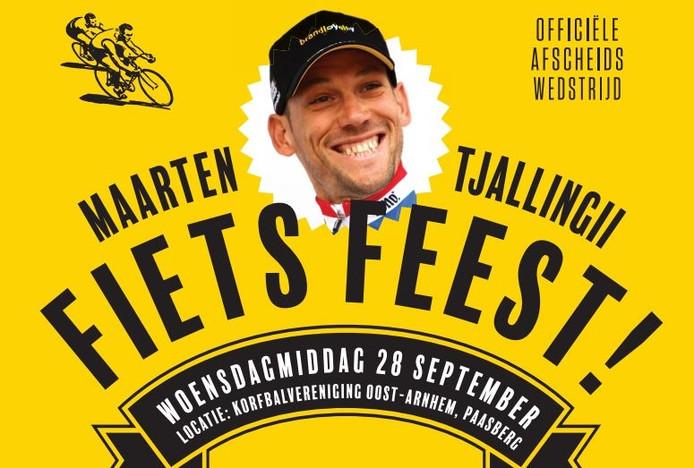 Poster voor het Maarten Tjallingii Fietsfeest