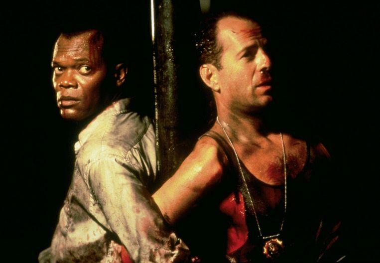 Samuel L. Jackson en Bruce Willis in Die Hard With a Vengeance (John McTiernan, 1995). Beeld