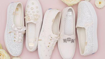 Trouwen op sneakers binnenkort een trend? Als het van deze collectie bruidssneakers afhangt wél