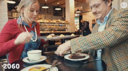 VIDEO. Jonge sp.a-kandidaten vermommen zich als kranige oudjes om minimumpensioen van 1.500 euro te bepleiten