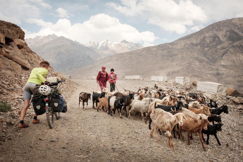 De Pamir Highway, 2017 in Tadzjikistan.