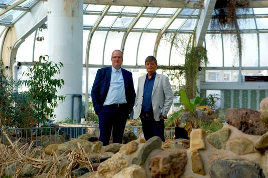 Ondernemers Marco Kramer en Anton de Jong in Tropicana.