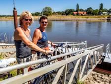 Verrassing in Wilp: door laag water geen veerpont