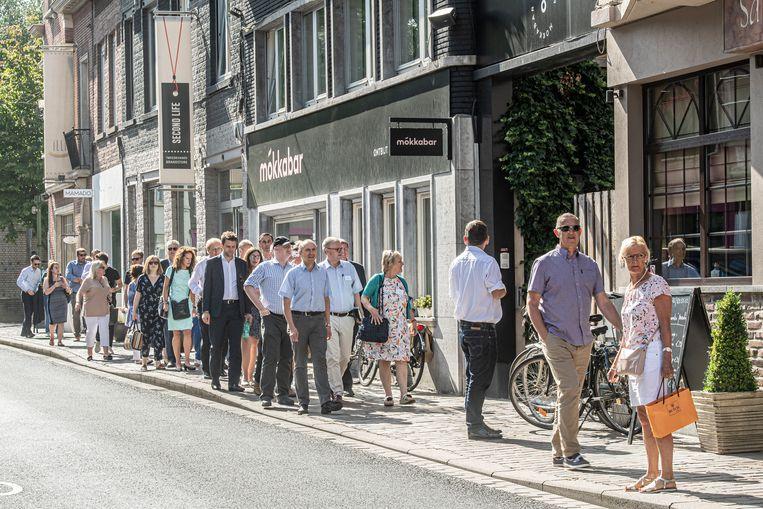 De  Britse delegatie in de Wallenstraat
