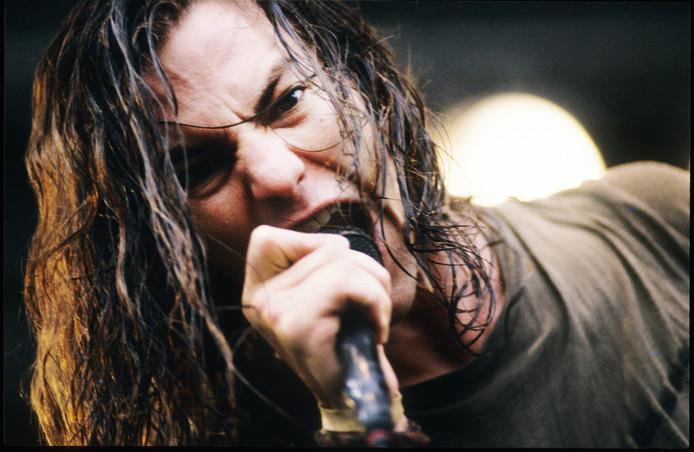 Eddie Vedder in de beginjaren van Pearl Jam.