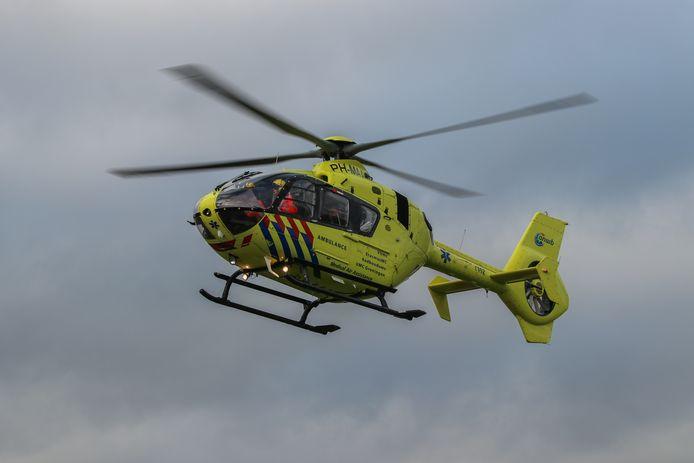 De traumahelikopter werd opgeroepen na het ernstige ongeval in Wijk bij Duurstede.