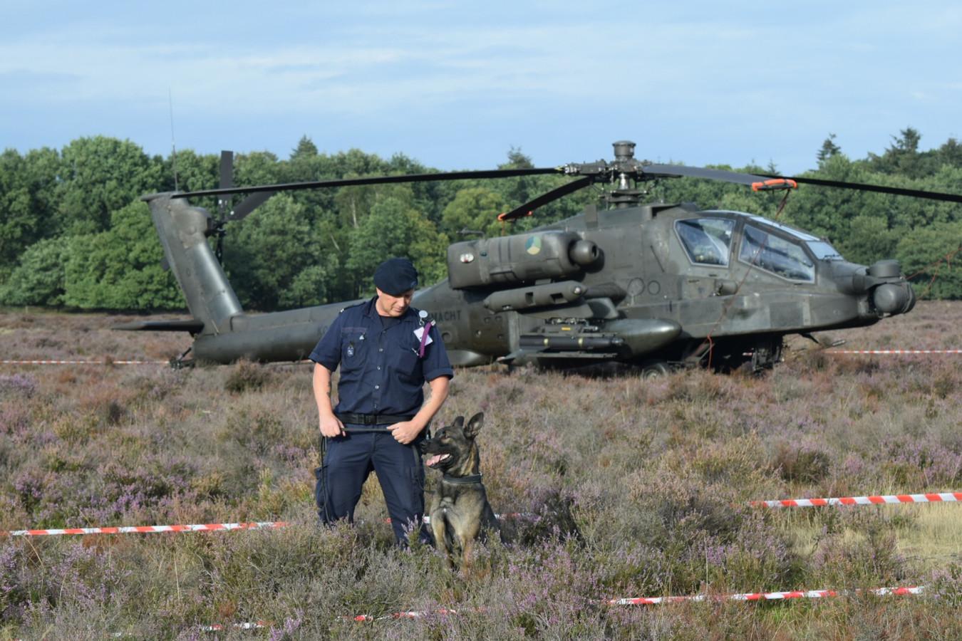 De gestrande Apache op de Ginkelse Heide bij Ede.