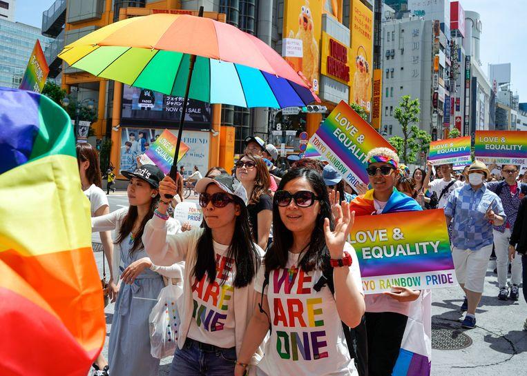 Pride-parade in Tokyo.