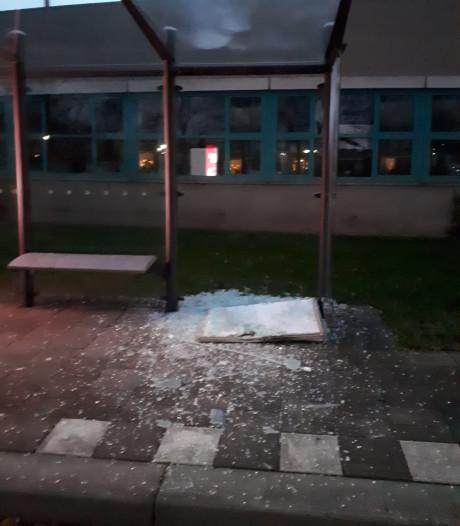 Jongeren blazen bushokje op in Dubbeldam