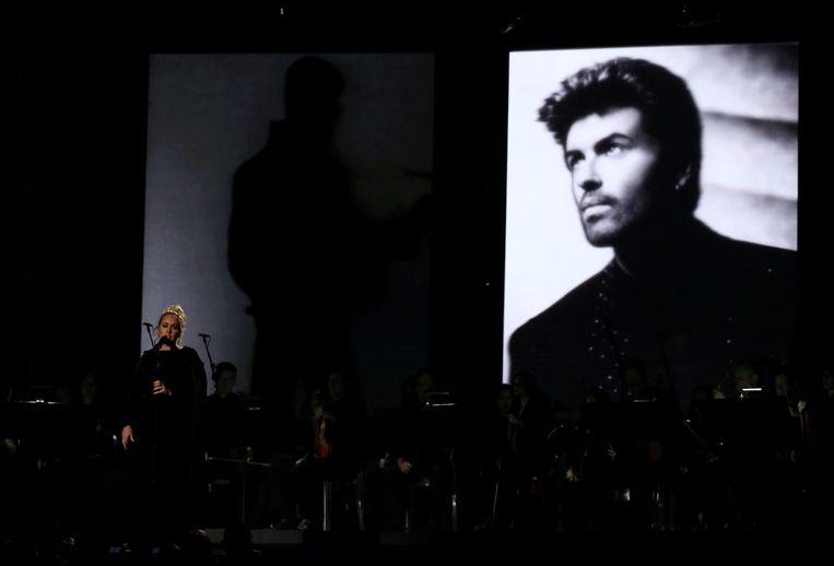 Adele zingt eerbetoon aan George Michael. Beeld reuters