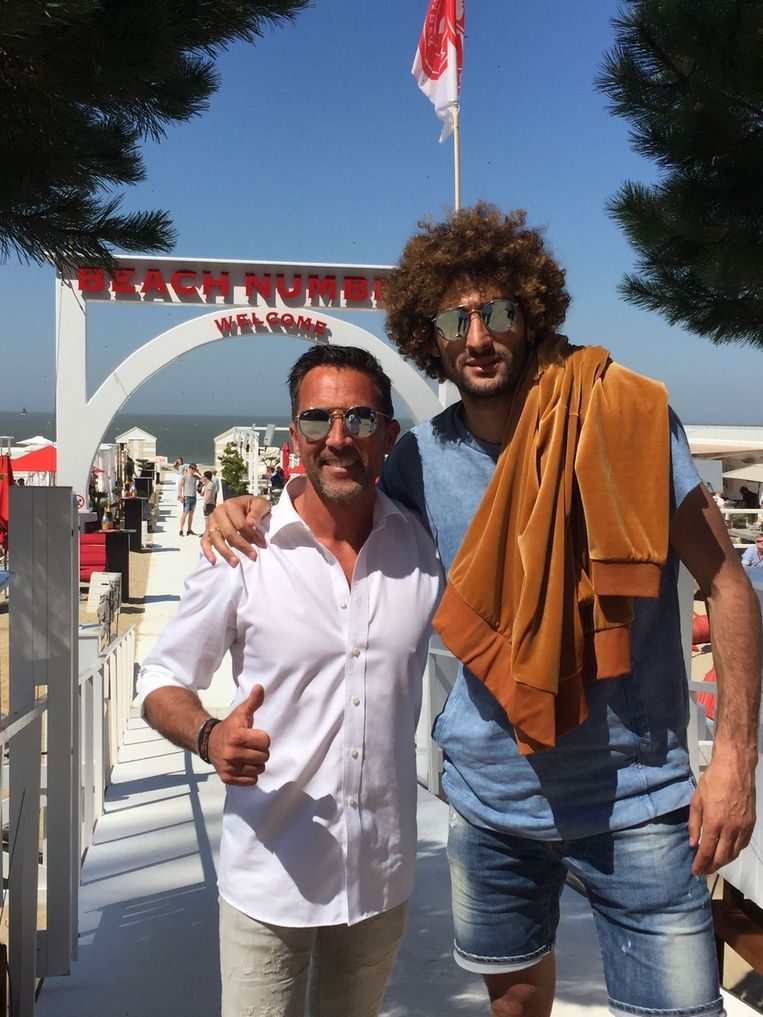Fellaini in Knokke.