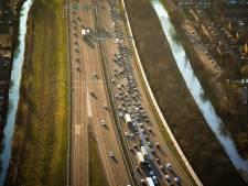 A4 dicht bij Leidschendam na ongeluk